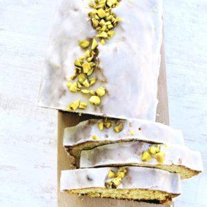 Cake Yaourt, Pistache & Fleur d'Oranger
